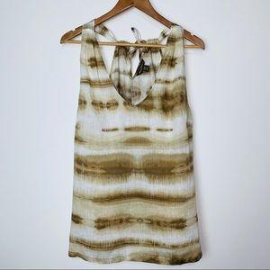 Tommy Bahama 100% Linen Tie Dye Back Tie Tank (M)